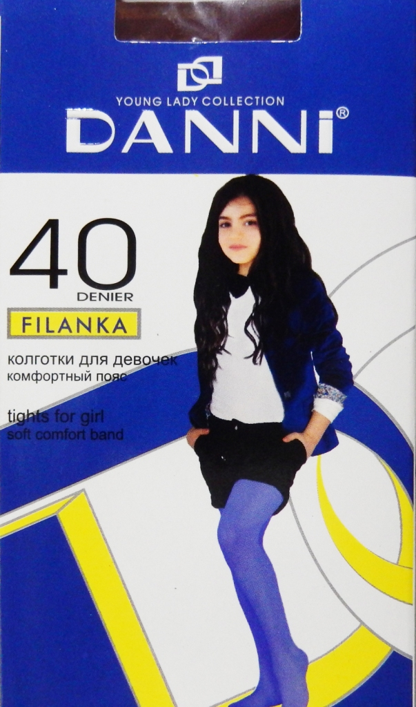 Колготки детские Danni Filanka 40 (глад)