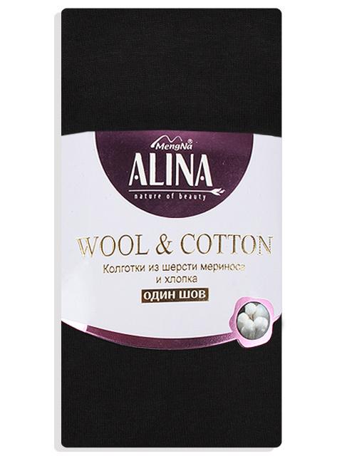 Колготки ALINA 664 шерсть мерин+ хл 300D